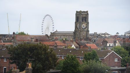 The view from one of the 30 flats which have been developed at Crown House in Great Yarmouth. Pictur