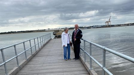 John and Linda Davey, longtime supporters of Shotley Pier