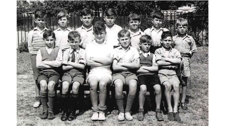 The cricket team at Letchmore Road Boys School from 1949-1950