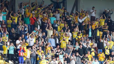 Torquay fans celebrate the goal during the Vanarama National League Match between Notts County and T