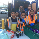 Amrita Sapal (second from right) gave £120 to SEVA, a Sikh charity feeding the homeless in Ilford