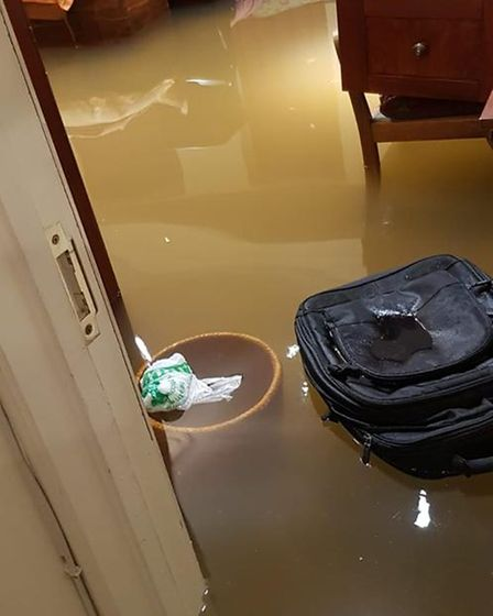 A Westminster home ruined by flash flooding