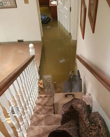 A Westminster home ruined by the flash flooding