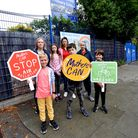 Mothers and children protest to reduce pollution inHaverstock Hill