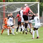 Will McClelland score twice for Saffron Walden Town in their win over West Essex.