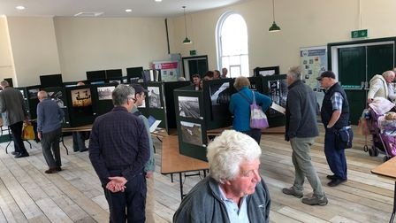 A previous exhibition at theParcels Office public exhibition space at Lowestoft Railway Station.