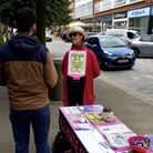 Extinction Rebellion North Herts were out in Letchworth at the weekend,