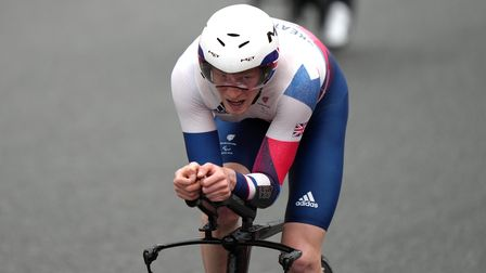 Great Britain's George Peasgood claims bronze in the Men's C4 Time Trials at the Fuji International