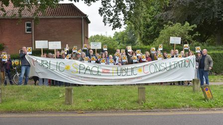 Local people are protesting against the councils decision to install tarmaced tennis courts in Heigh