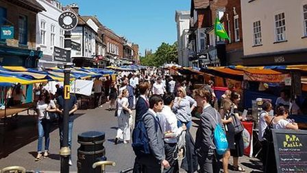 How St Albans Charter Market looked before the pandemic.