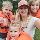 The Nevard family enjoyed a family day out on the water.