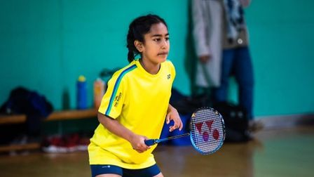 Letchworth'sSaghana Thayaparan, 12, is one of just four girls in her age category selected to play badminton for England