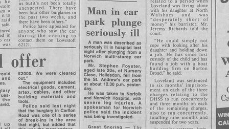 The newspaper report fromMay 1986
