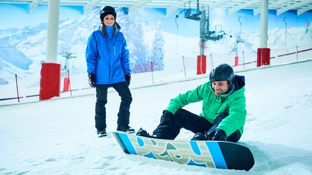 Adrenaline junkie couples should try The Snow Centre on a date night.