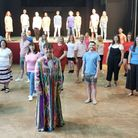 Jason Ames/Joseph (centre front) rehearsing with the Lowestoft Players.