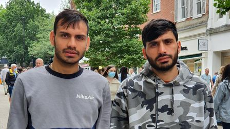 Shina Zahid is pictured on the right with his elder brother Hikmat in Norwich