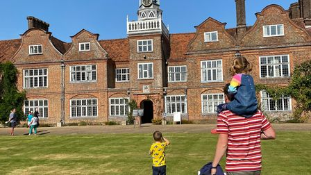 Guests outside Rothamsted Manor.