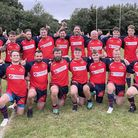 Wisbech Rugby Club Wildcats team before Cambridgeshire Police game