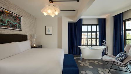 The Penthouse at The Mondrian Shoreditch one of 13 suites in the 120 room hotel