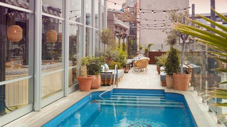 Rooftop pool at The Mondrian Shoreditch