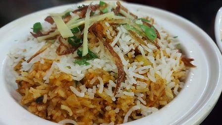 Chicken Biryani at Great Himalayas Nepalese Restaurant & Bar on Lord Street in Southport