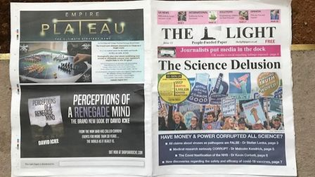 The 12th edition of anti-vaxx 'truthpaper' the Light has been distributed to businesses down Sun Street in Hitchin