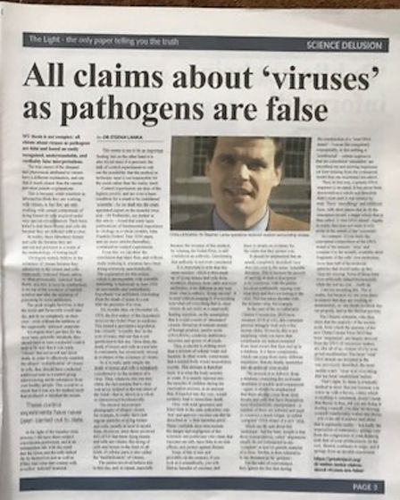The Light newspaper brands medical research 'corrupt' and discusses the 'COVID Nazification of the NHS'