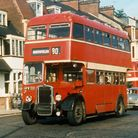 LKH 133 bus during her final days serving the city of Norwich at Thorpe Road in the 1960s.