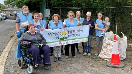 Wymondham volunteers in the Sale Yard area which has been cleared up and transformed.