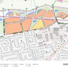 Nailsea Holdings\'s initial concept masterplan for green belt land on the edge of Nailsea.