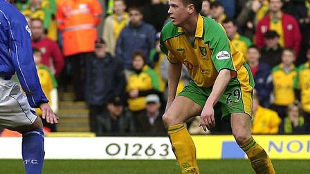 Leigh Bromby in action against Ipswich during the derby at carrow rd .Photo: Simon FinlayCopy: