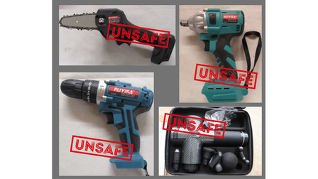 Unsafe tools seized at the Port of Felixstowe