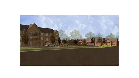 Proposed plans for affordable homes for the elderly in Thetford on Norwich Road