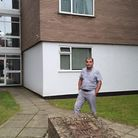 Hassan Amini stands outside Dial House on Grove Road in Norwich