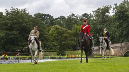 Victorian Cavalry displayed skills and tactics withinthe Victorian Horses show atAudley End House and Gardens, Essex