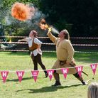 Fire breathing atthe Hertford Castle Heritage Day.