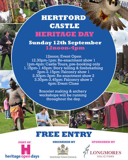 The Hertford Castle Heritage Day 2021 programme.