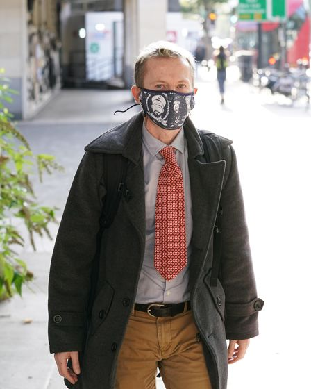 David Knott leaves Westminster Magistrates' Court in London