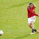 Manchester United's Tobin Heath during the FA Women's Super League match at the Leigh Sports Village