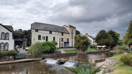 The Brook and the old mill with its restored water wheel