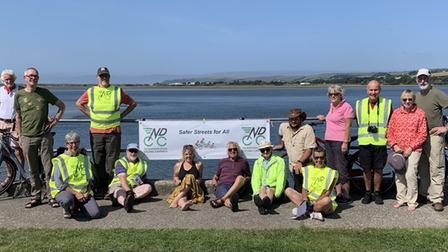 Members of the North Devon Cycling Campaignget together for a picnic at Fremington Quay