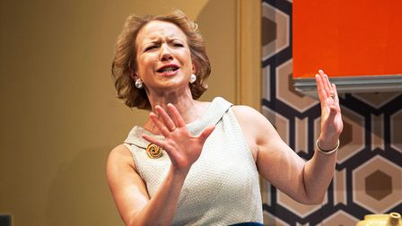 Rosanna Miles as Marion Brewster-Wright in Absurd Person Singular by Alan Ayckbourn.