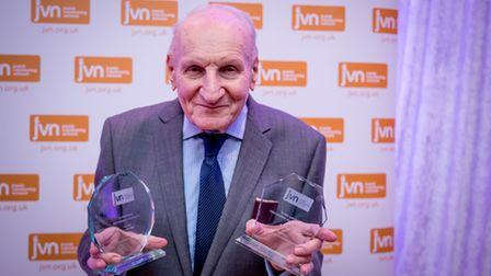 Harry Heber given an award in 2019 for his volunteering
