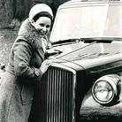 St Albans Mayor Agnes Hill with the mayoral limousine.