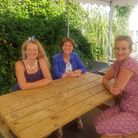 (L to R) Emma Hookway, Braunton county councillor Pru Maskell and North Devon MP Selaine Saxby