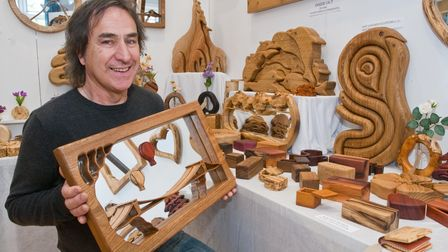 Paul O'Donnell - Wood 'N' Things, designs in wood and wool. North Somerset Arts Week at Congresbury.