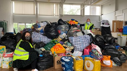 Volunteers have distributed more than 150 boxes of good to Afghan refugees in Herts