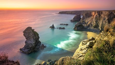 Bedruthan Steps is a stretch of coastline located on the north coast of Cornwall