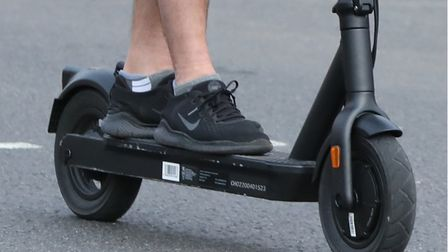 A stock image of an e-scooter