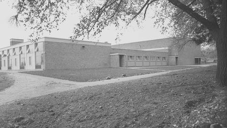One of the main buildings atWymondham College in 1965.